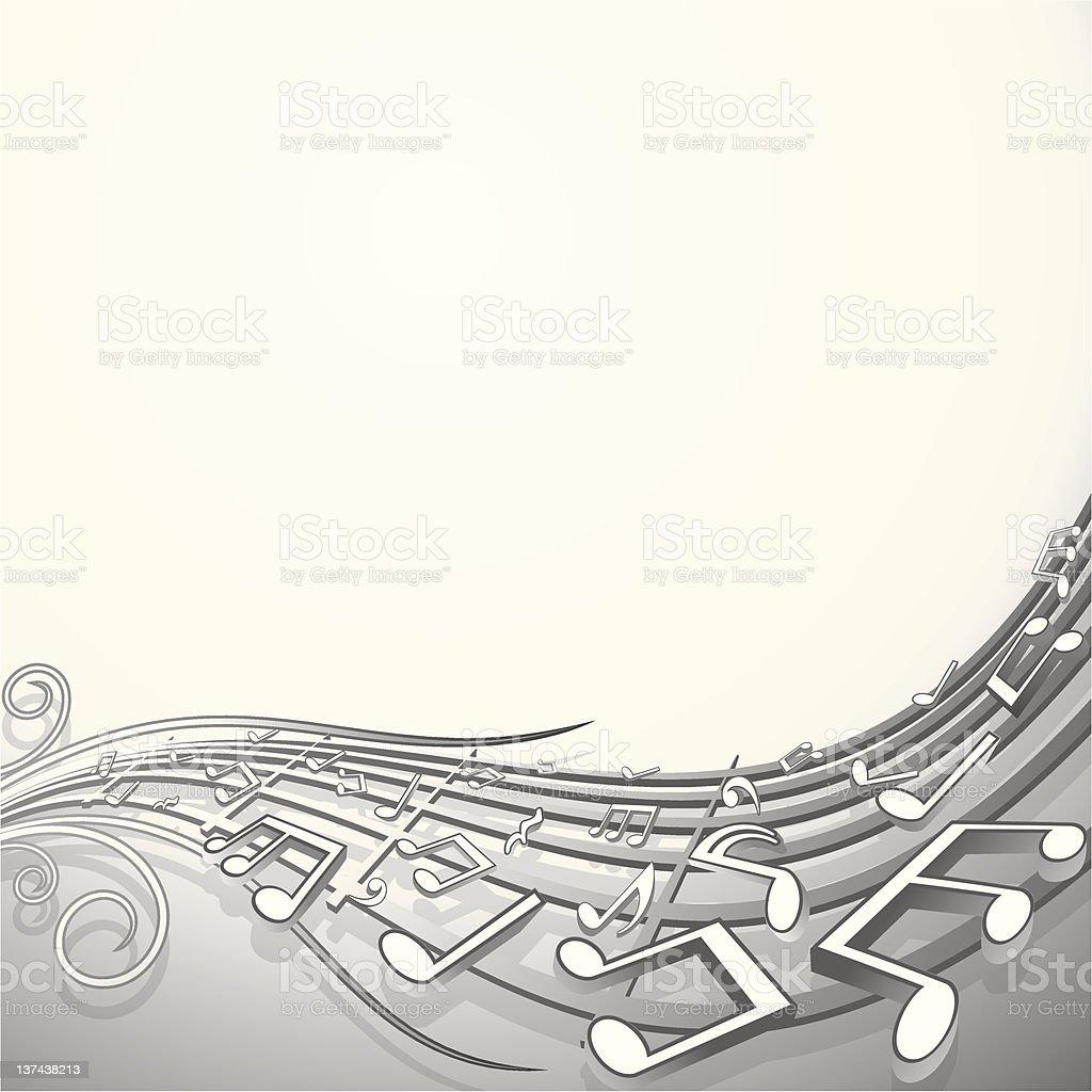 Sound wave. Musical Background vector art illustration
