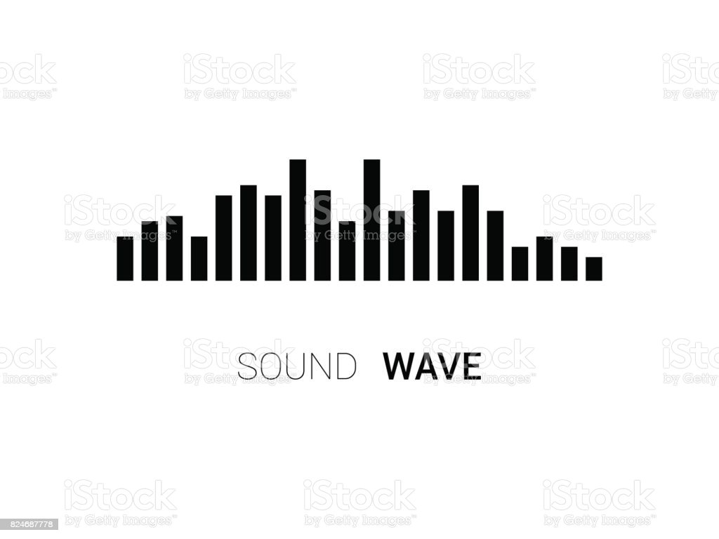 sound wave on white background music equalizer stock vector art
