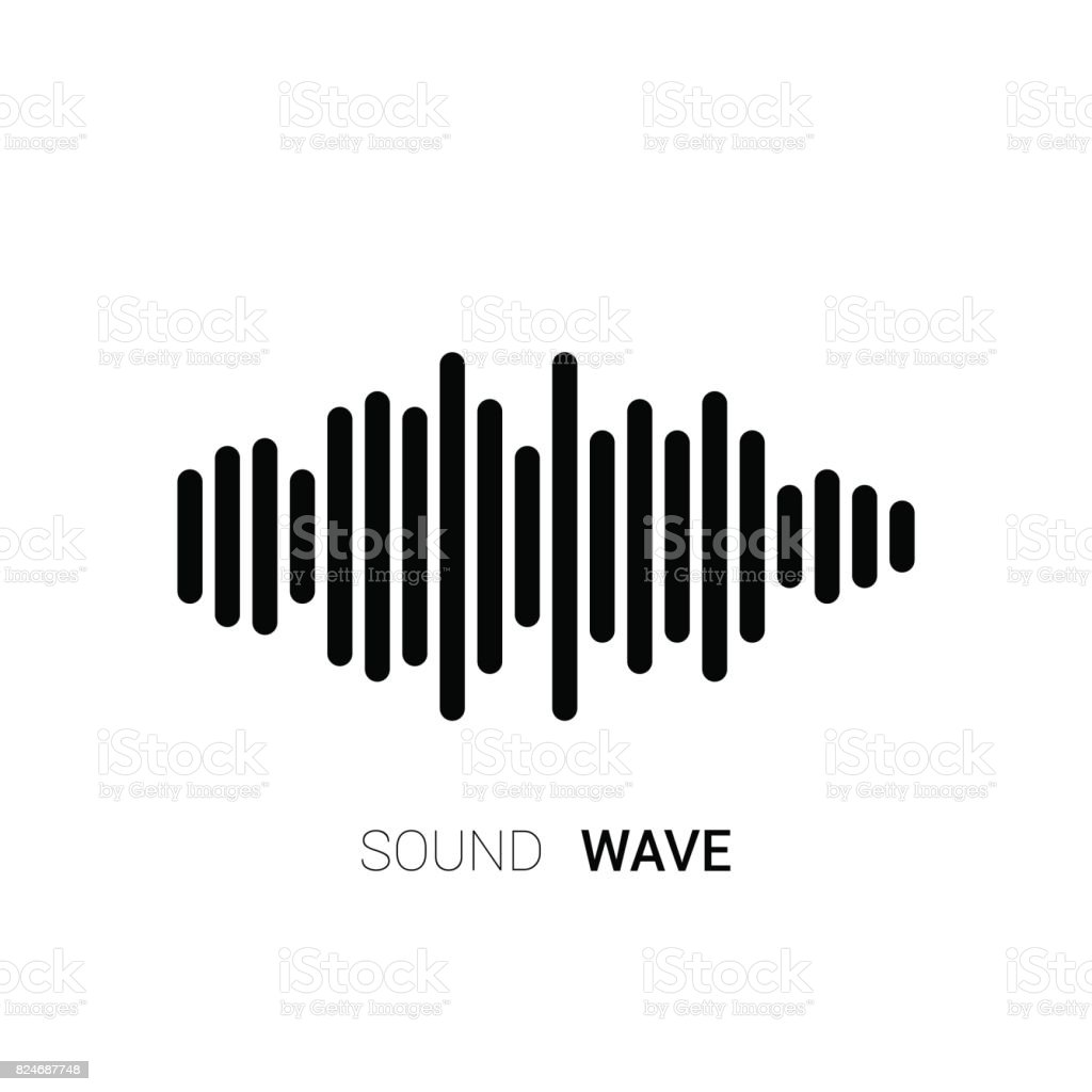 sound wave on white background music equalizer vector stock vector