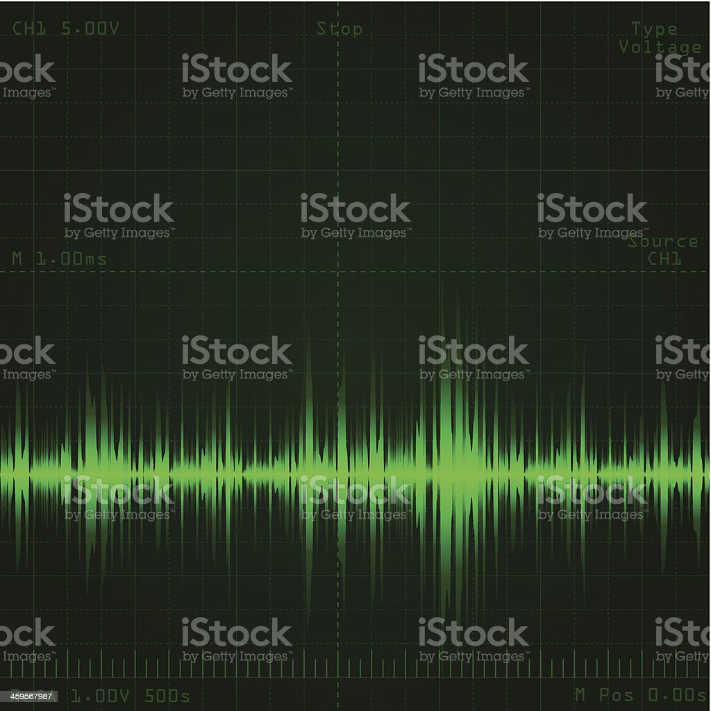sound wave signal vector art illustration