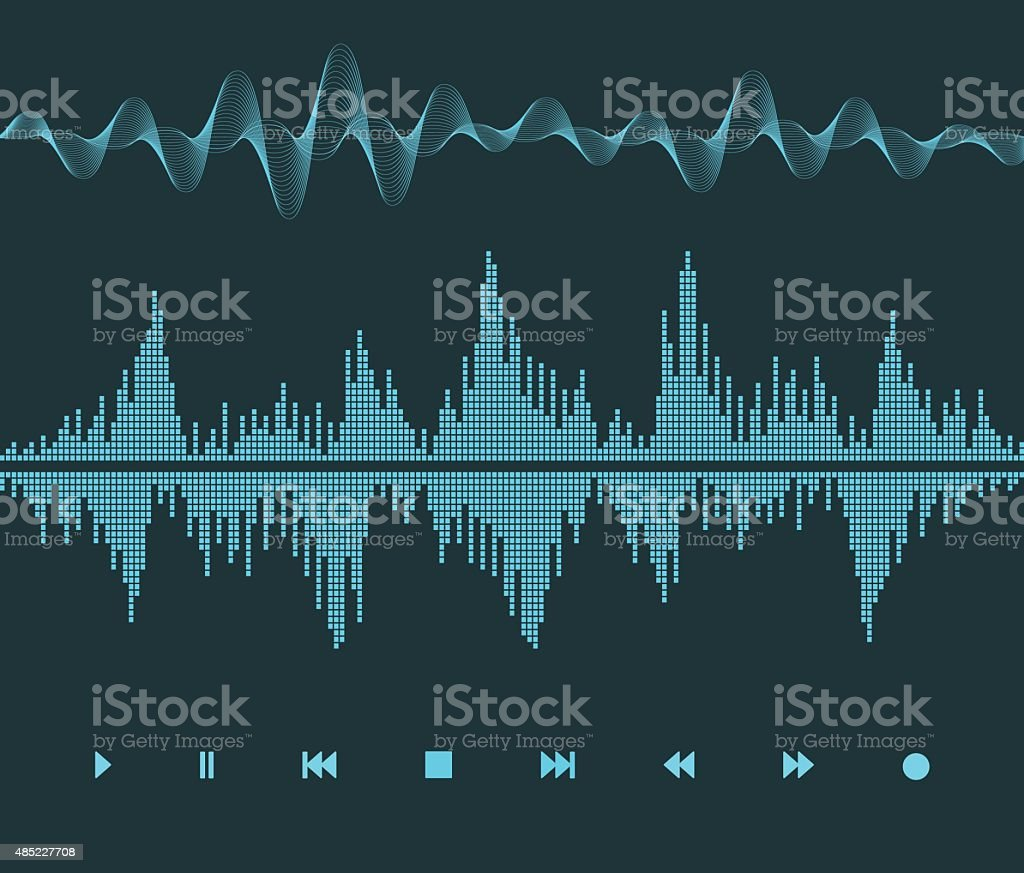 Sound Wave vector art illustration