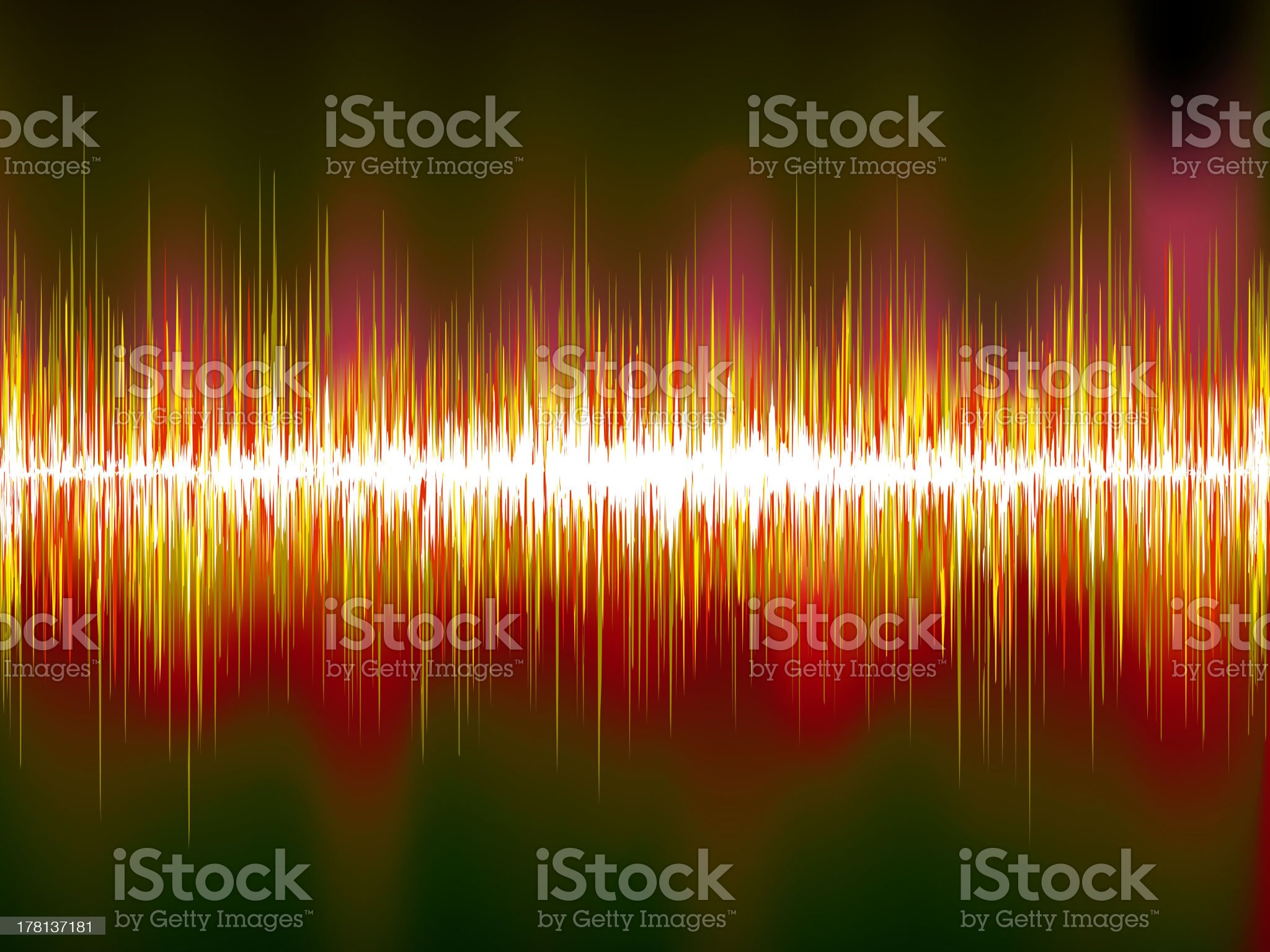 Sound waves on black background. EPS10 royalty-free stock vector art