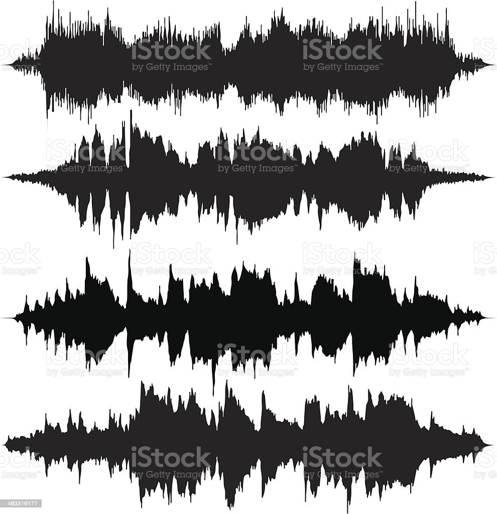 Sound Waves v2 vector art illustration
