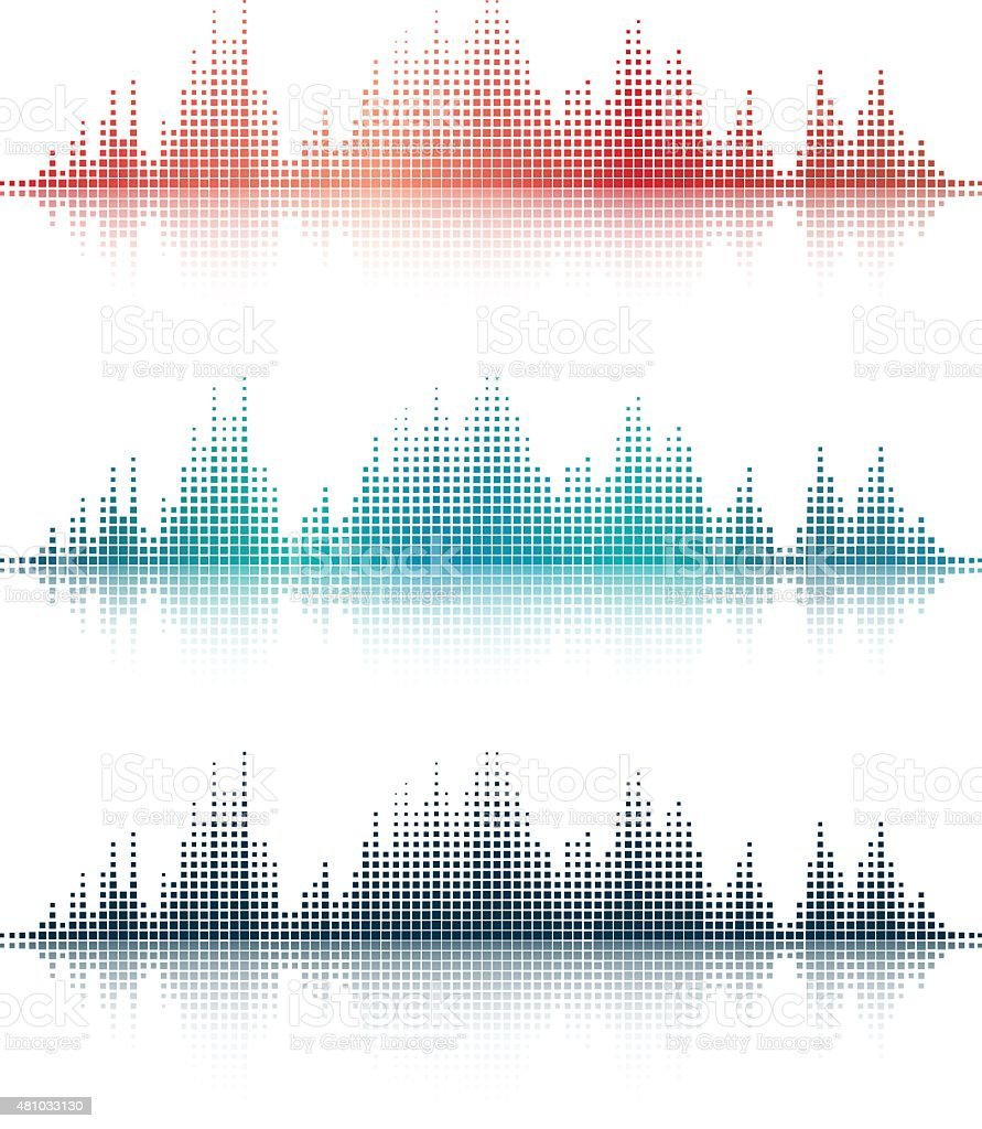 Sound Waves v3 vector art illustration