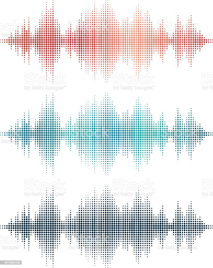 Sound Waves v3 (Circles) vector art illustration