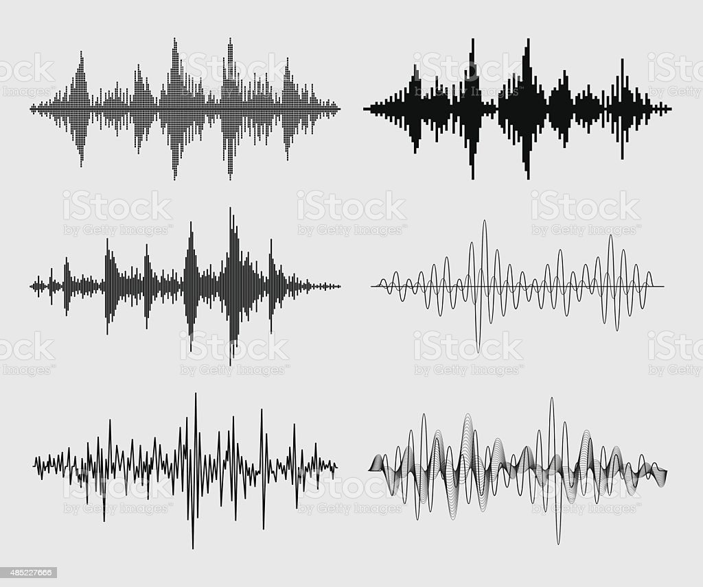 Sound Waves - Vector Set vector art illustration
