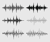 Sound Waves - Vector Set