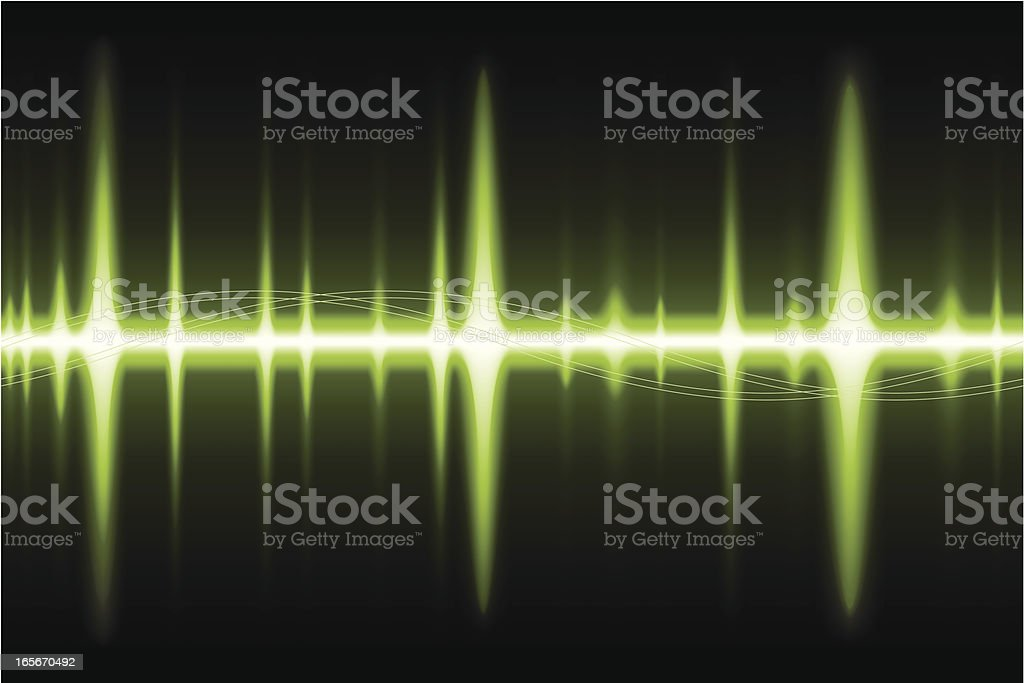 Soundwave green royalty-free stock vector art