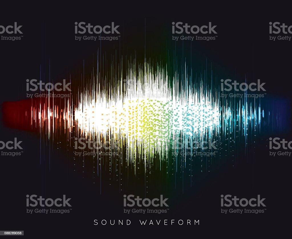 Soundwave waveform vector vector art illustration