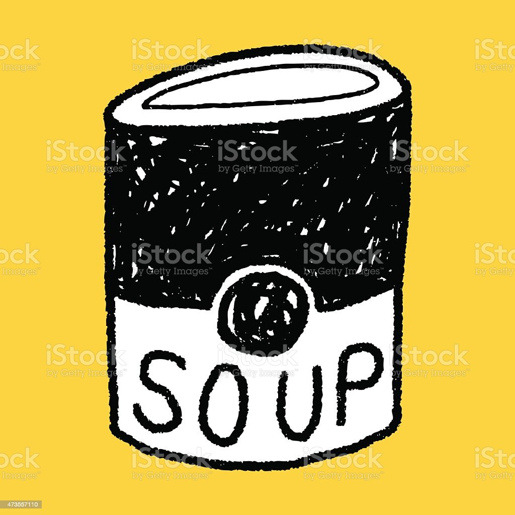 soup doodle vector art illustration