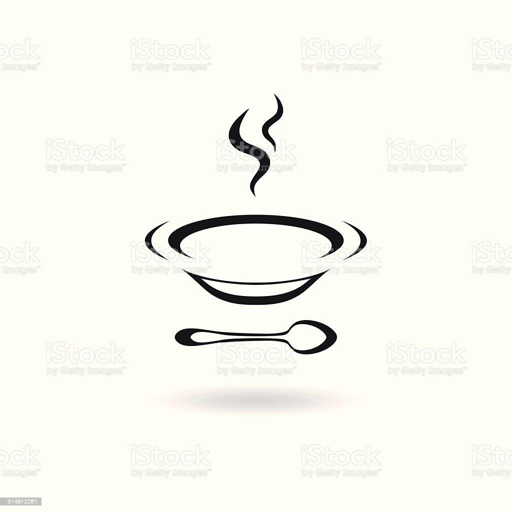 Soup icon vector art illustration