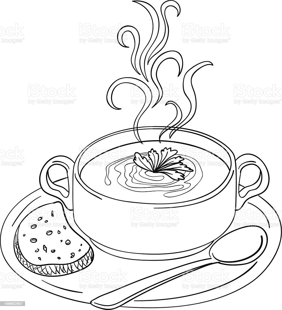 Soup Sketch Illustration stock vector art 456852957 | iStock