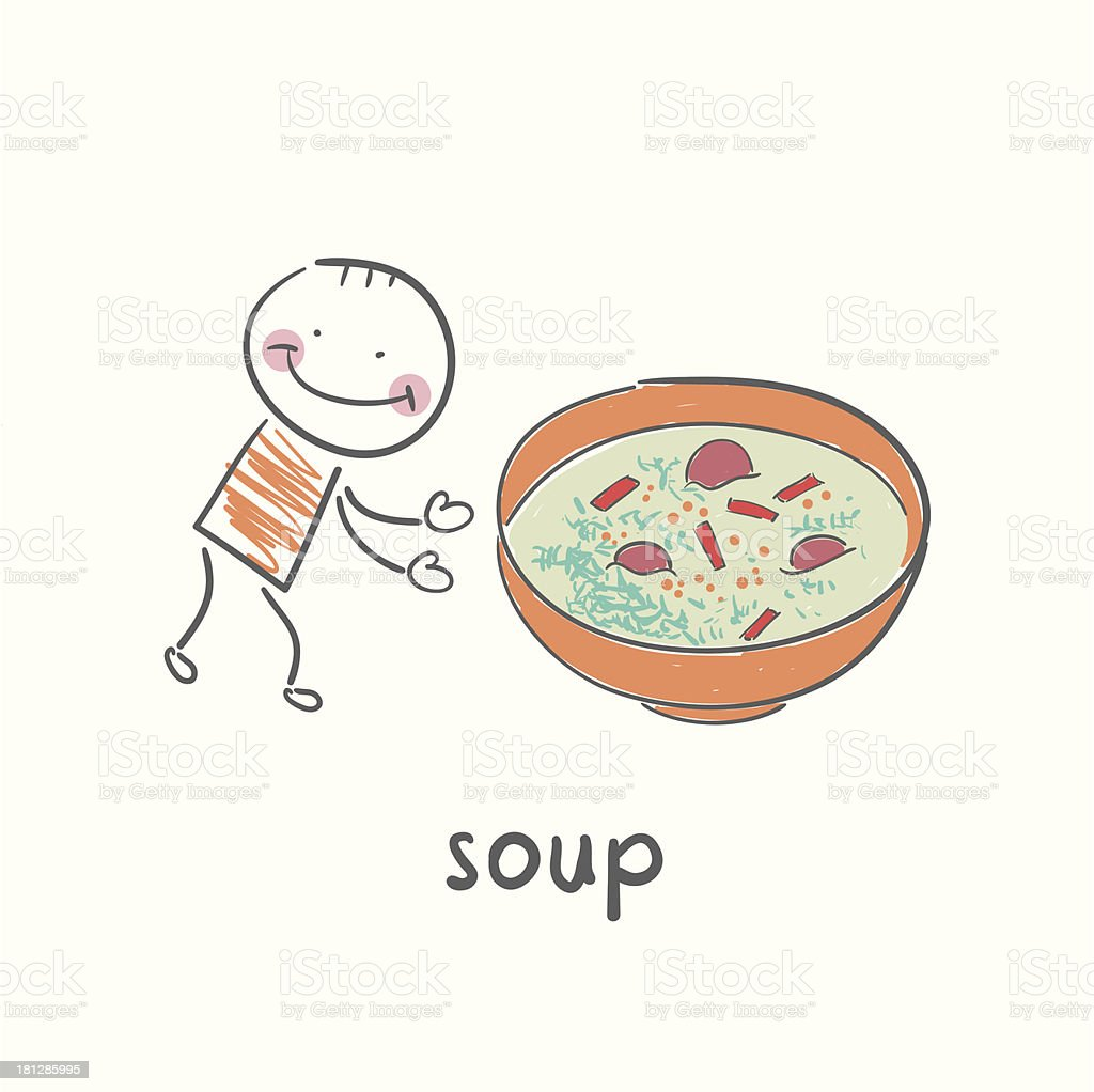Soup royalty-free stock vector art