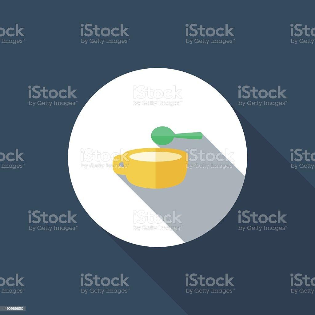 Soup vector art illustration
