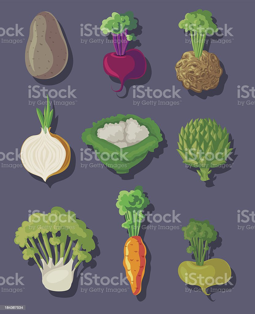 Soup vegetables set royalty-free stock vector art
