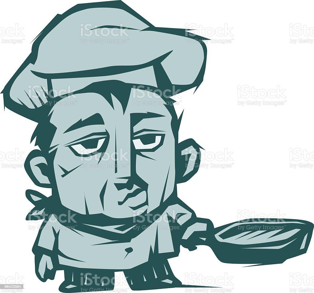 Sous Chef vector art illustration