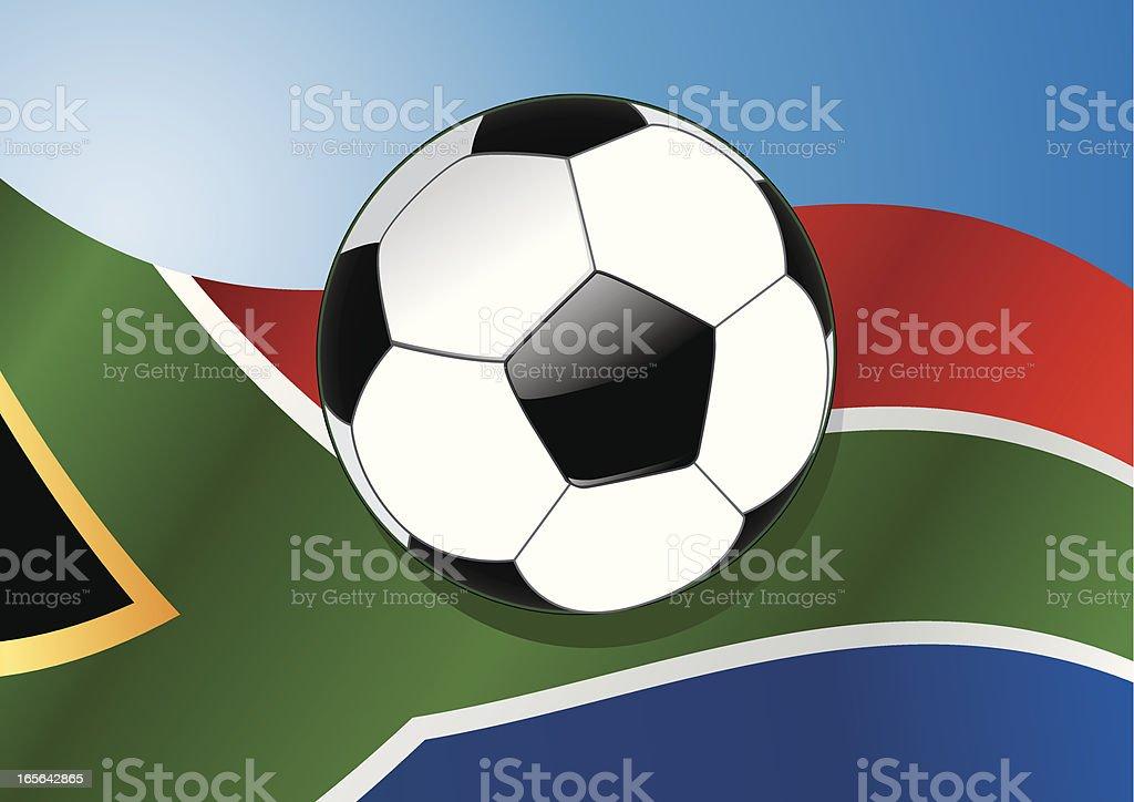 South Africa blue vector art illustration