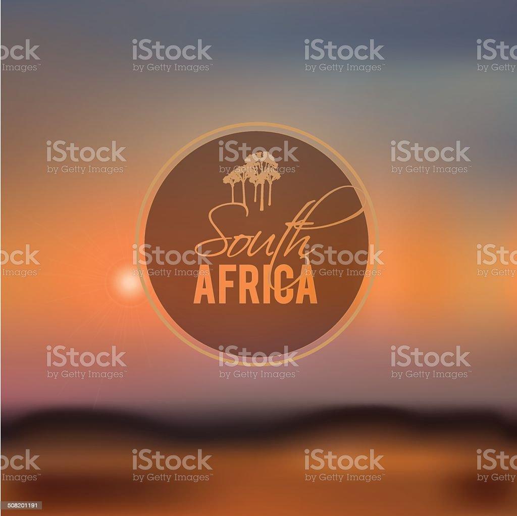 south africa blurry landscape vector illustration vector art illustration