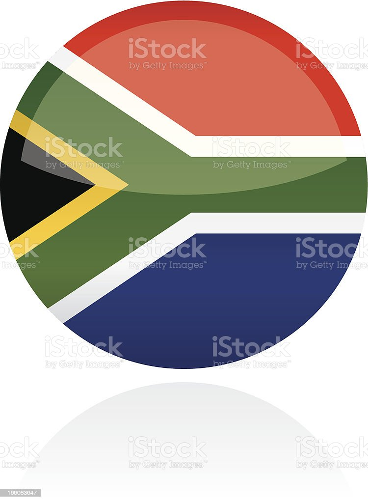 South Africa Flag Button royalty-free stock vector art