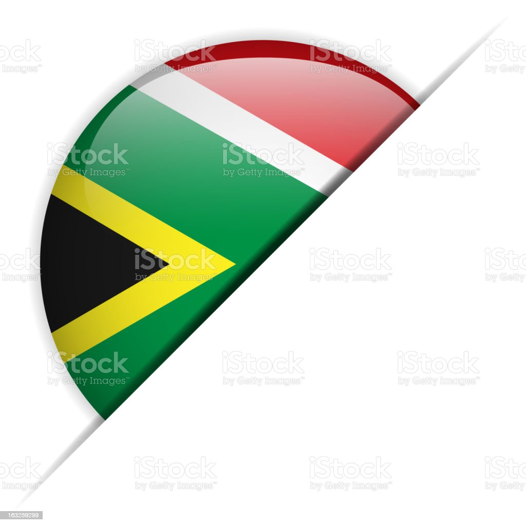 South Africa Flag Glossy Button Hidden royalty-free stock vector art
