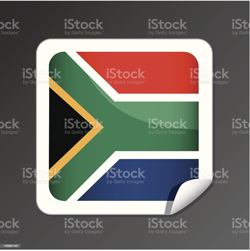 South Africa flag icon royalty-free stock vector art
