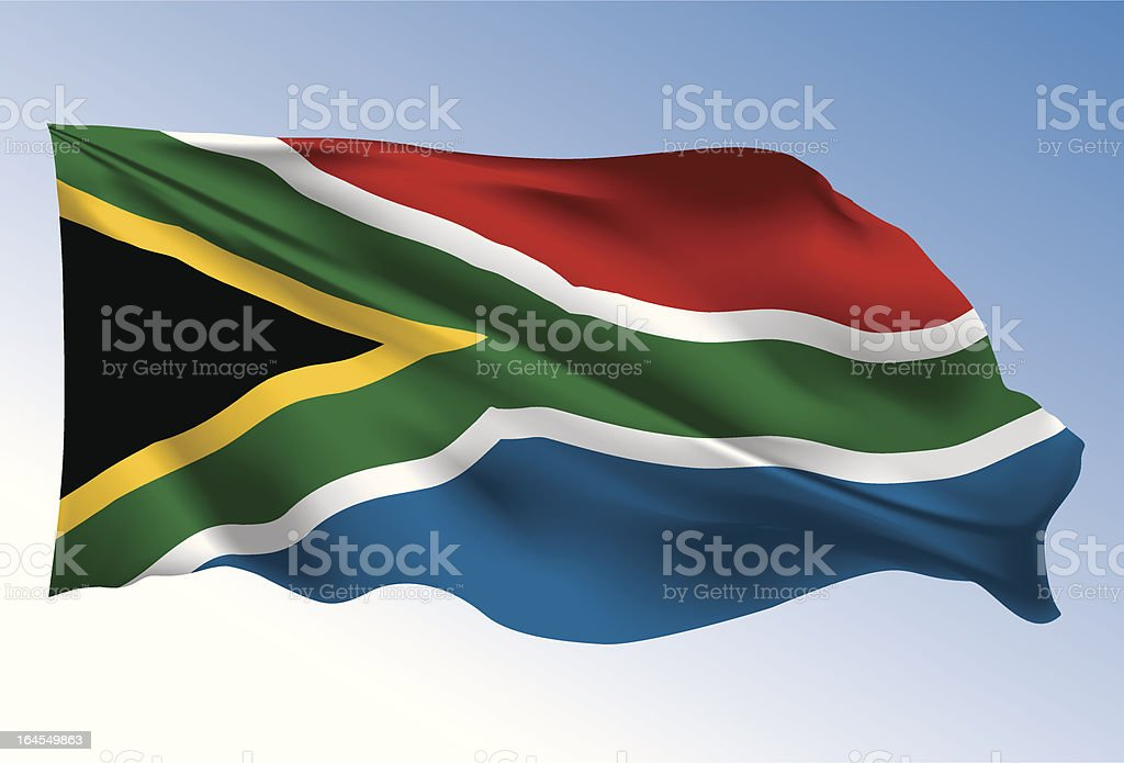South Africa flag royalty-free stock vector art