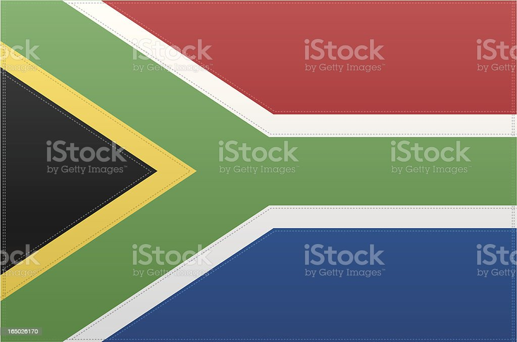 South Africa Flag (Vector) royalty-free stock vector art