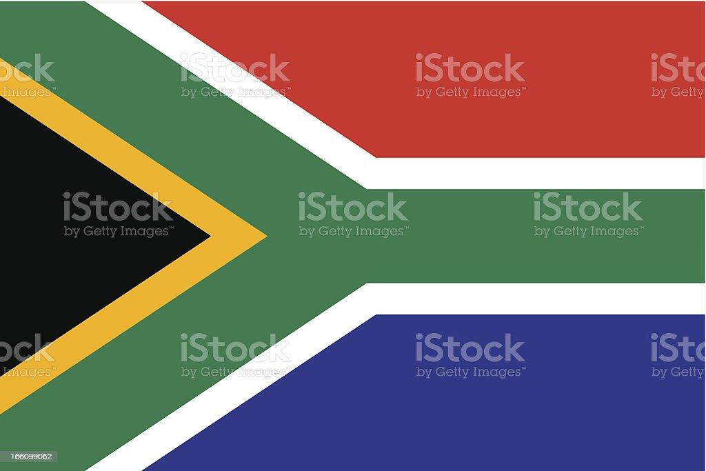 South Africa Flag vector art illustration