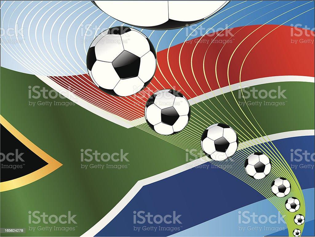 South Africa Soccer Ball Energy row vector art illustration