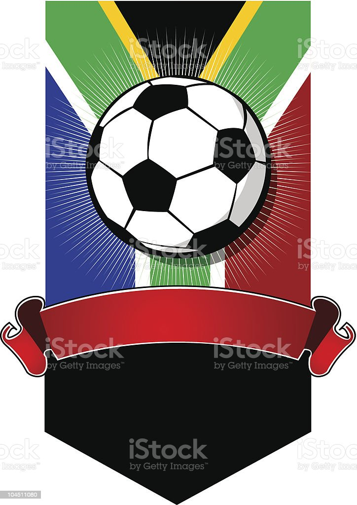 South Africa Soccer Championship banner royalty-free stock vector art