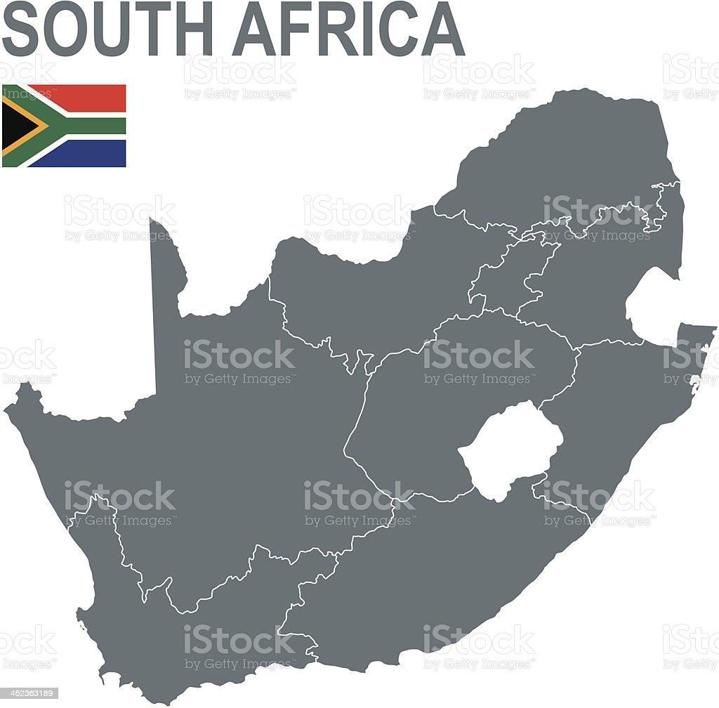 South Africa vector art illustration