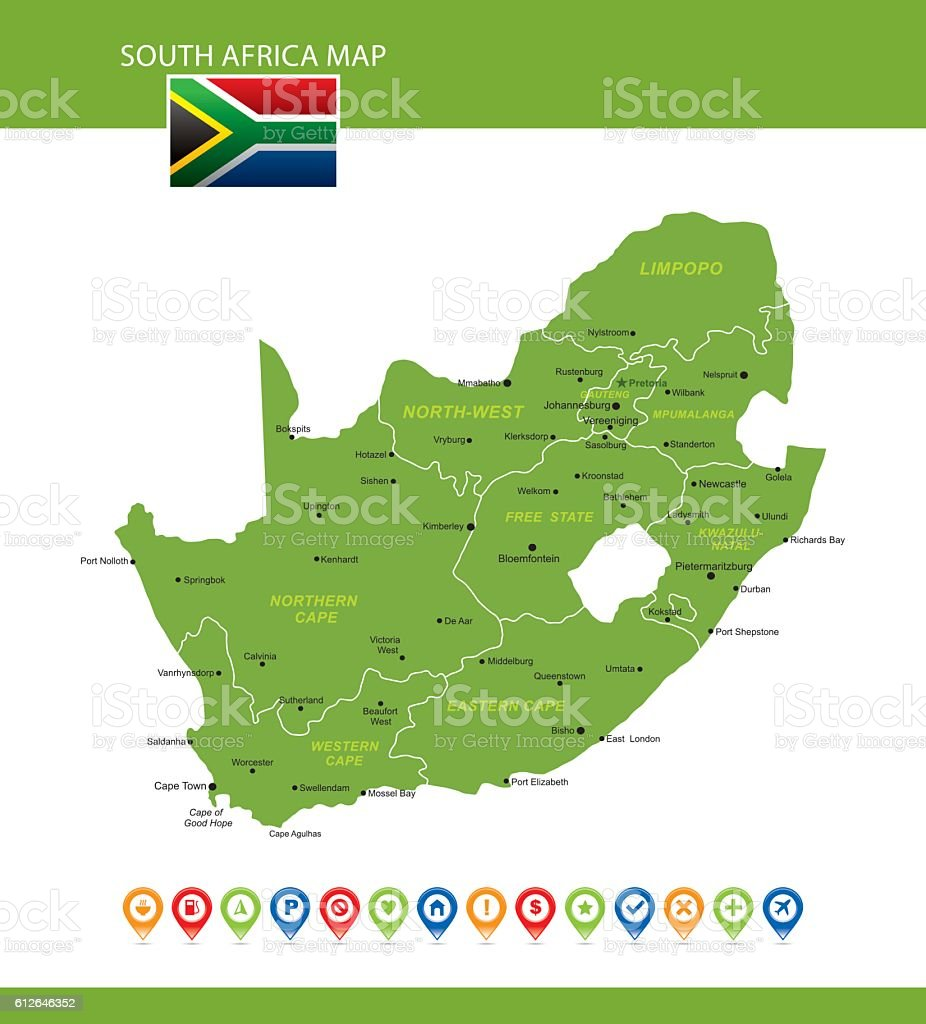 South Africa Vector Map vector art illustration