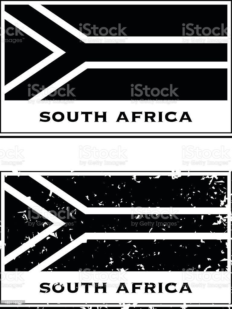 South African Passport Stamp vector art illustration
