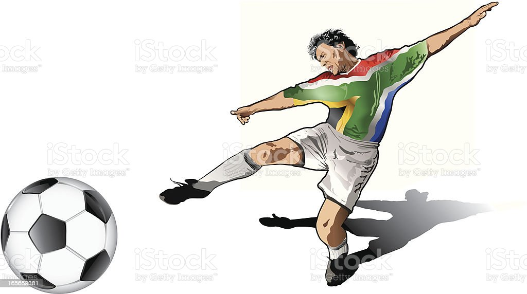 South african soccer player royalty-free stock vector art