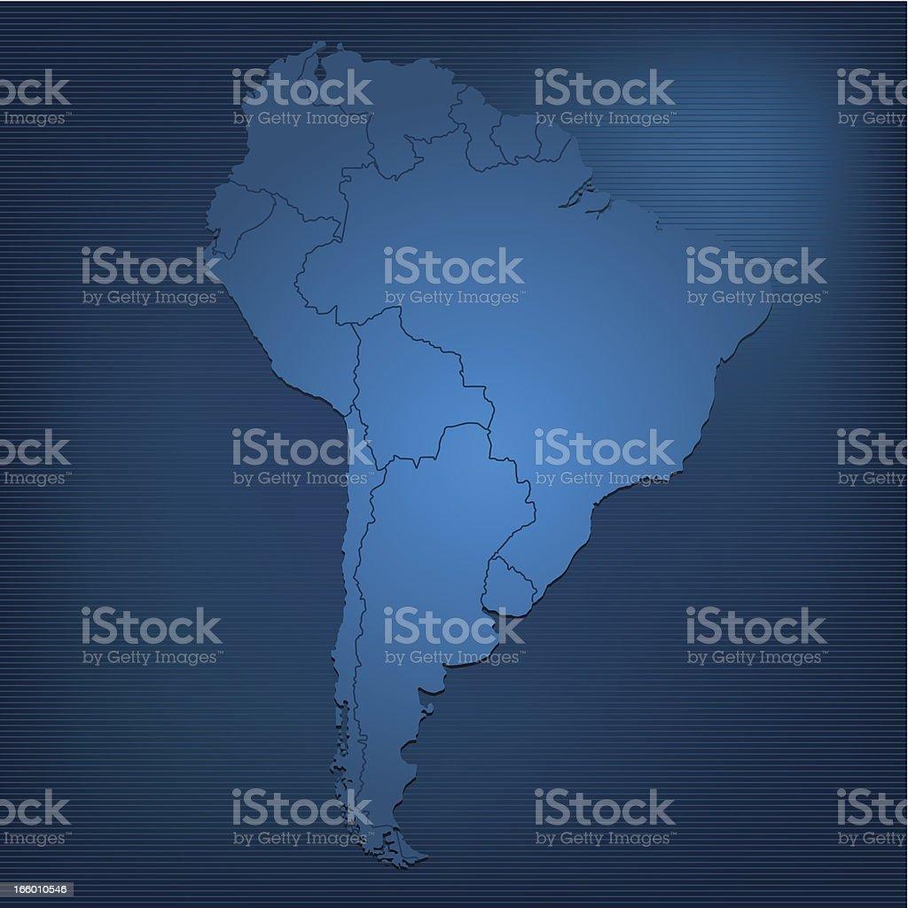 South America dark map royalty-free stock vector art
