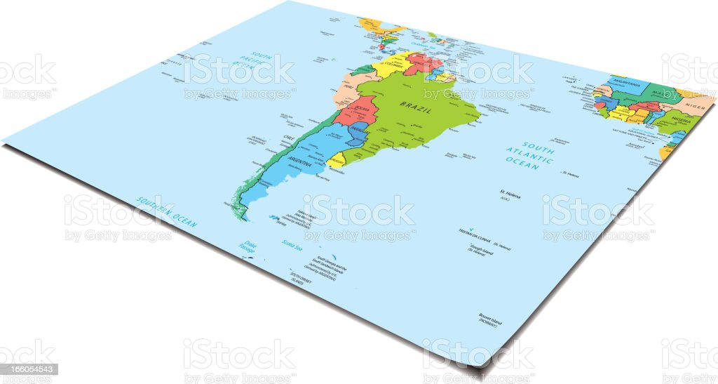 South America map royalty-free stock vector art