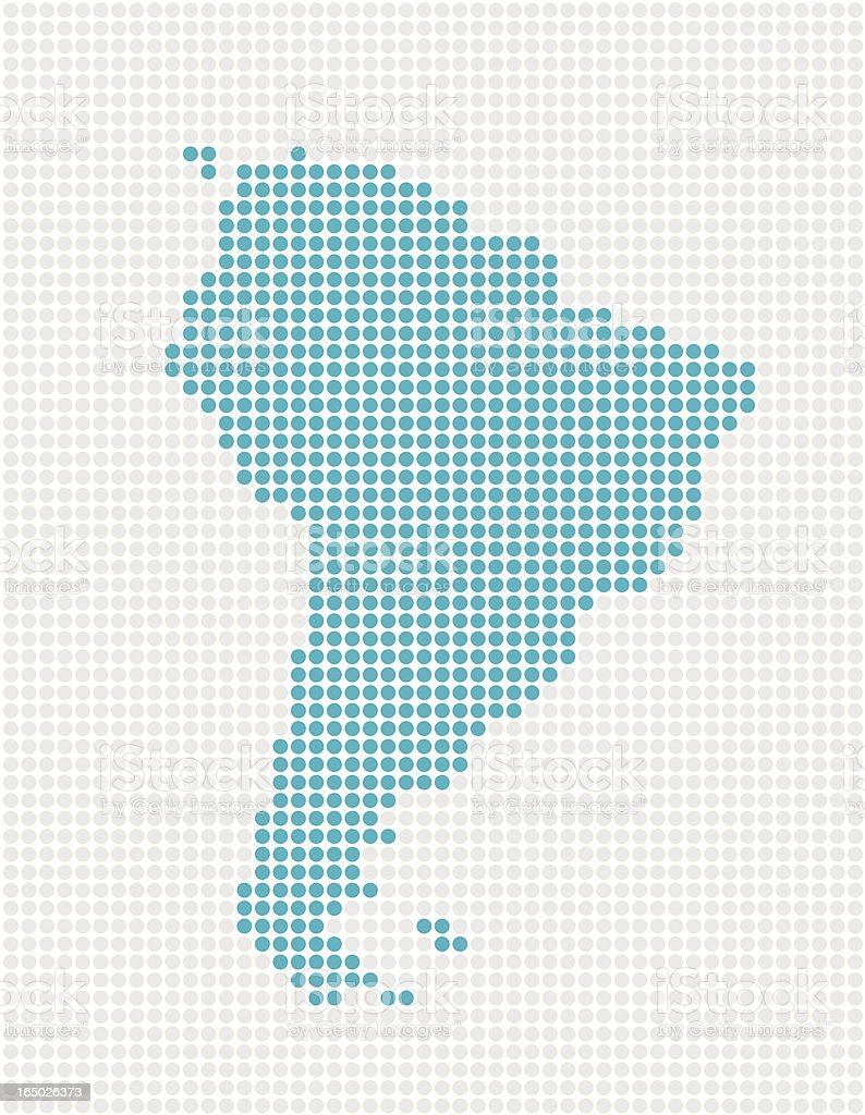 South America Pop Map ( Vector ) royalty-free stock vector art