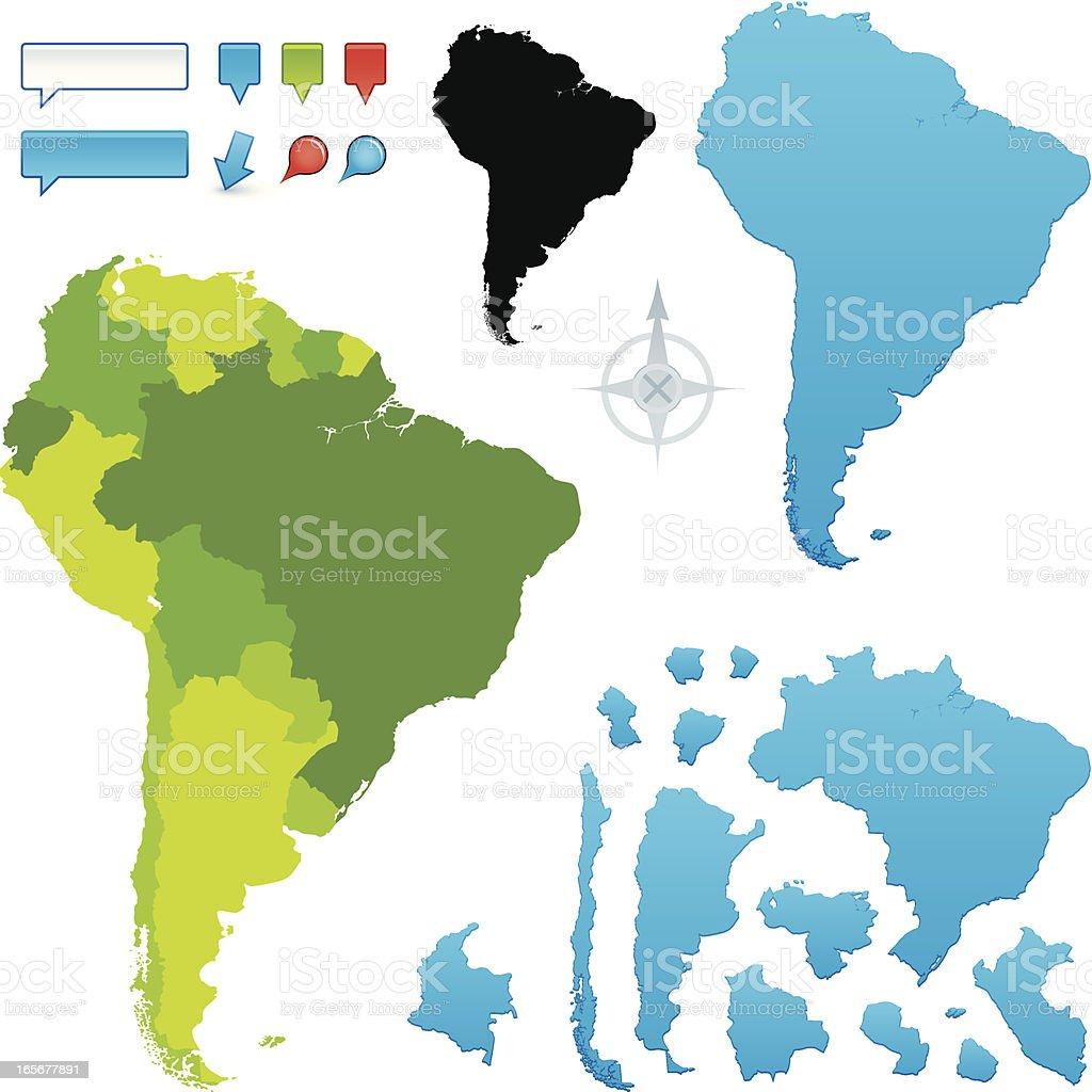 South America royalty-free stock vector art