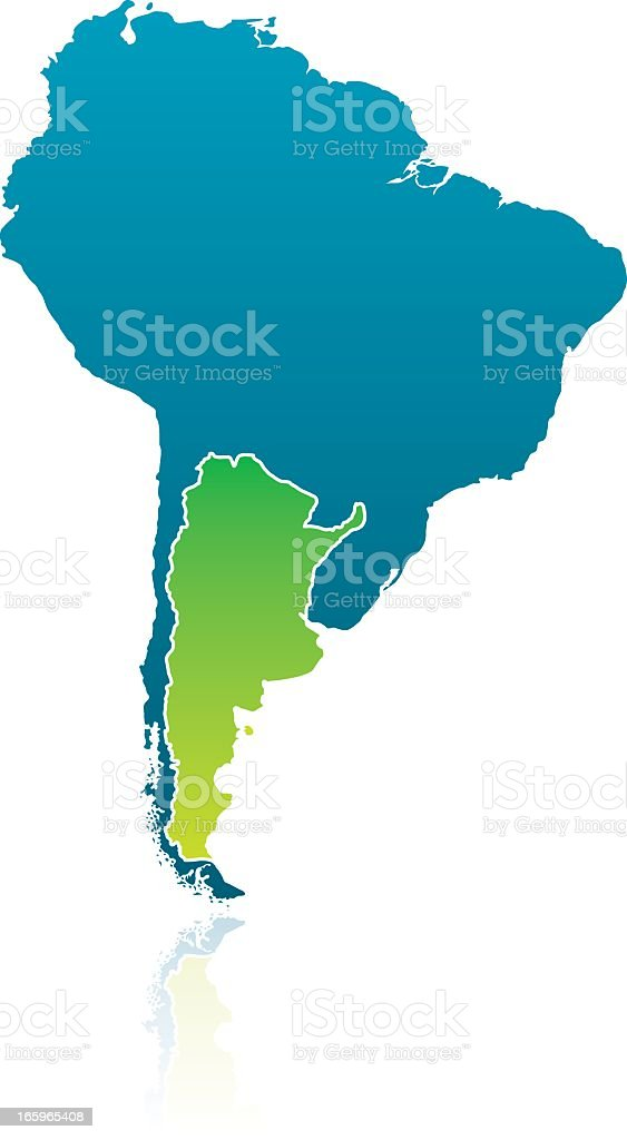 South American Map: Argentina royalty-free stock vector art
