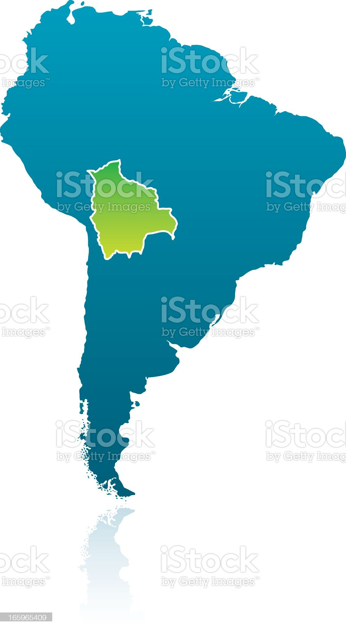 South American Map: Bolivia royalty-free stock vector art