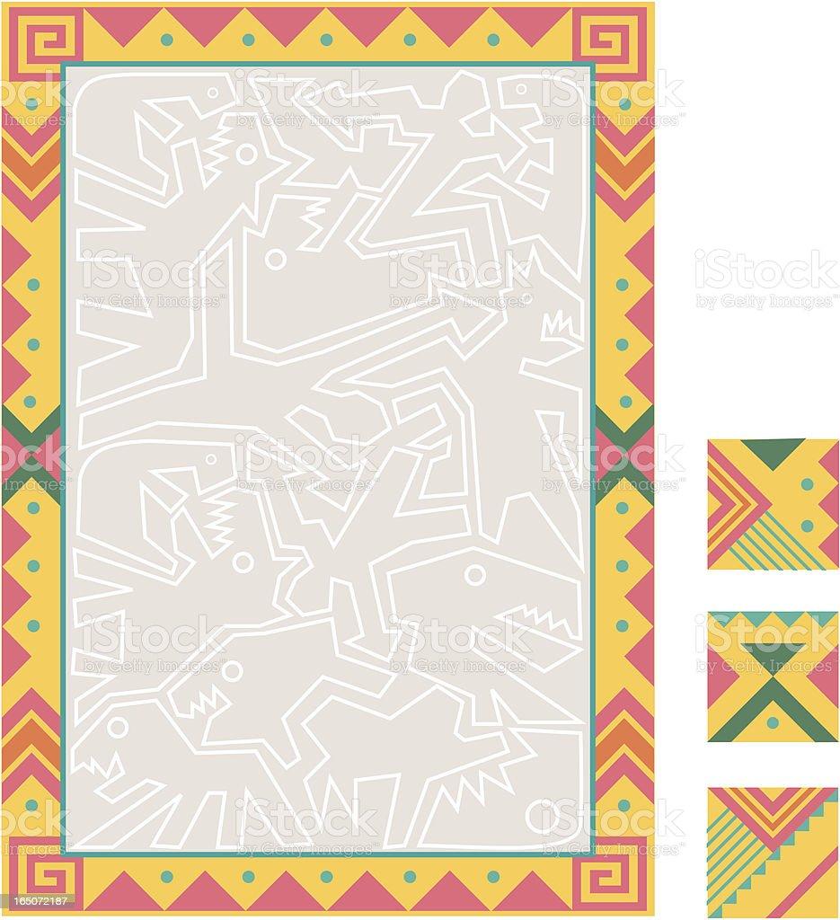 South American-inspired border art royalty-free stock vector art