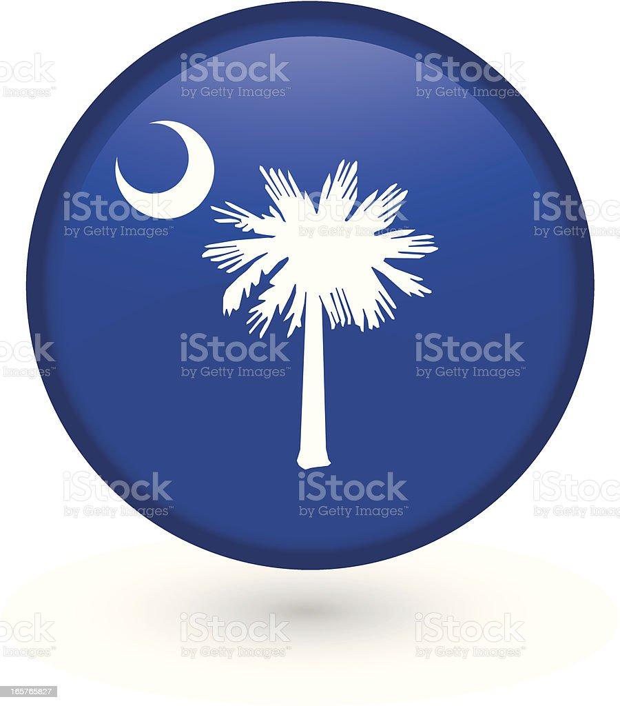 South Carolina flag button royalty-free stock vector art