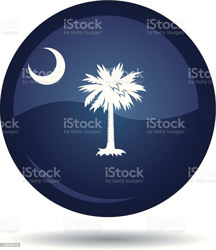 South Carolina flag royalty-free stock vector art
