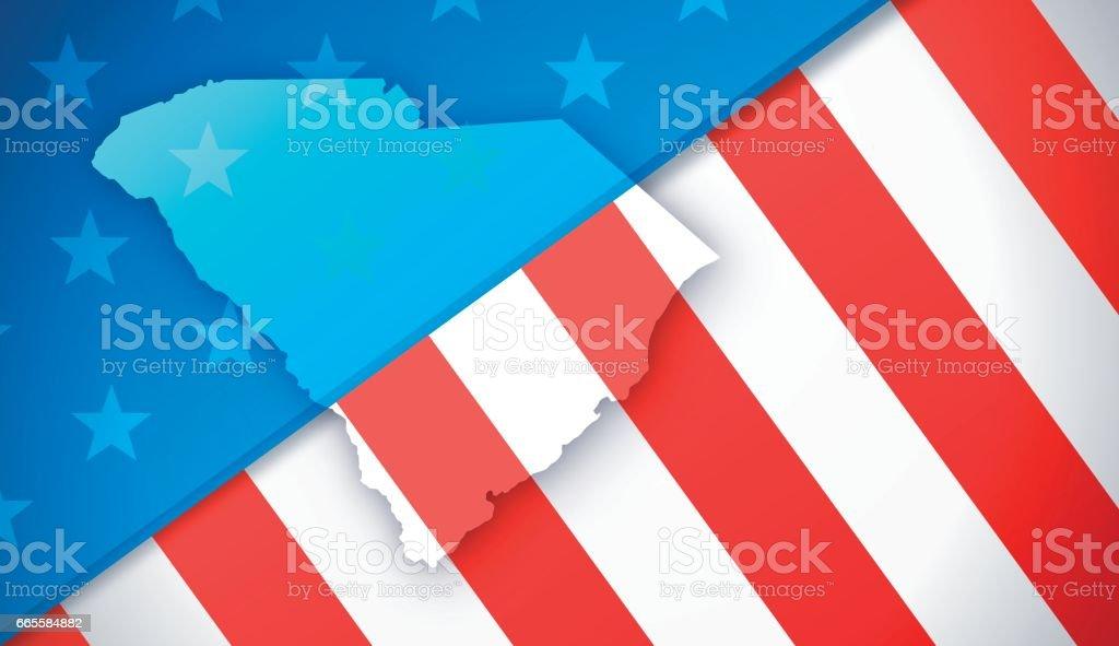 South Carolina Patriotic Flag Background vector art illustration
