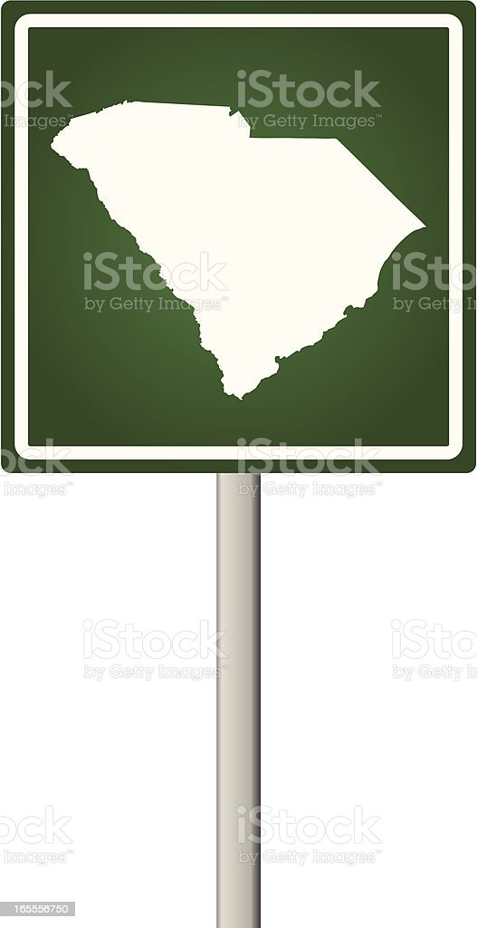 South Carolina Sign royalty-free stock vector art