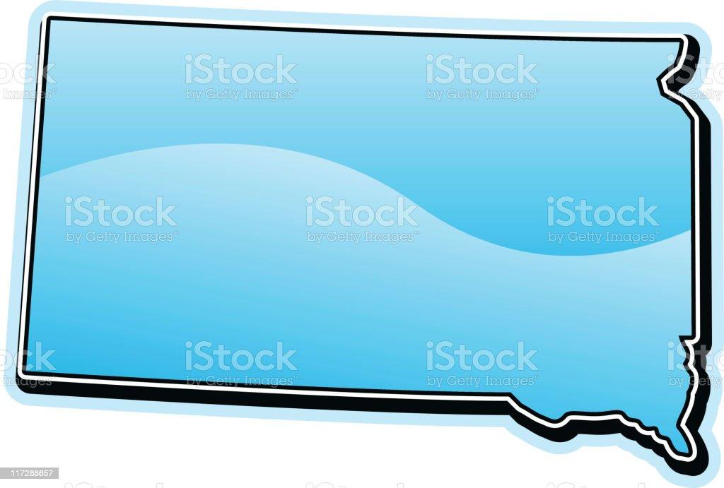 South Dakota - Single State Series royalty-free stock vector art