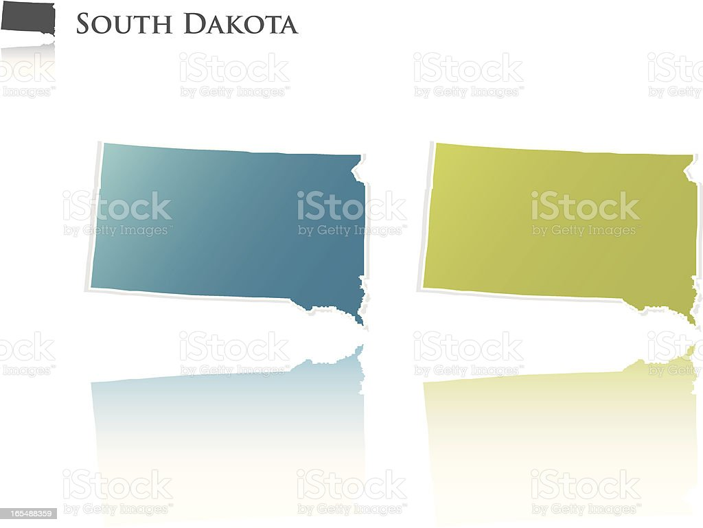 South Dakota state graphic royalty-free stock vector art