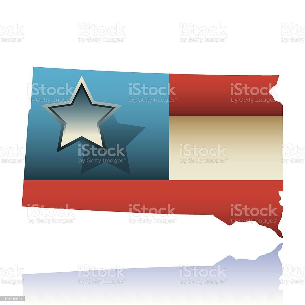 South Dakota state map royalty-free stock vector art