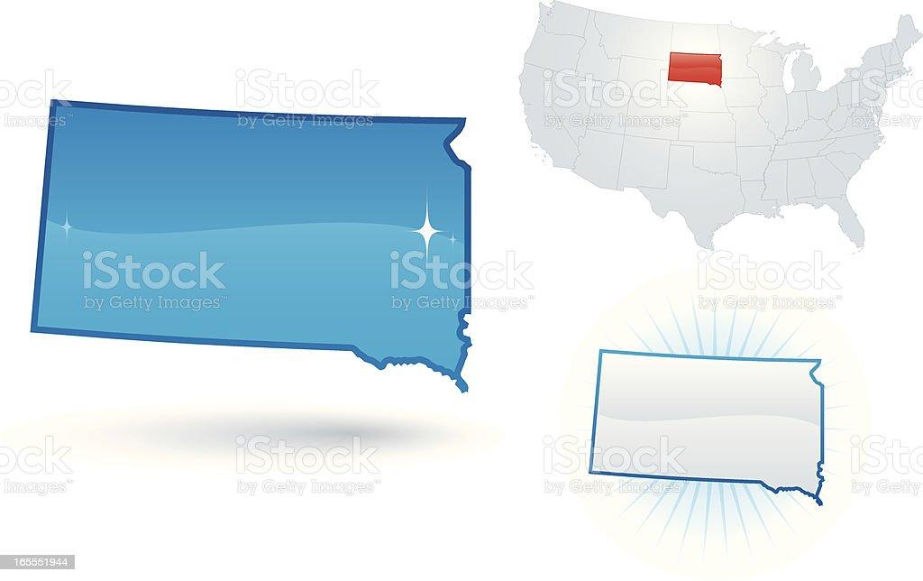 South Dakota State royalty-free stock vector art