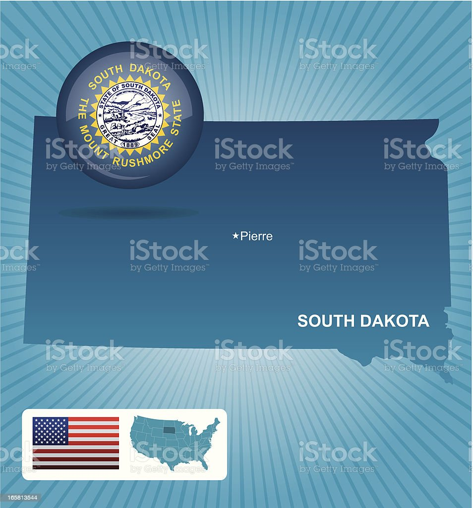 South Dakota state royalty-free stock vector art